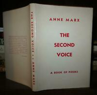 Marx, Anne; Viereck, Peter; Moore, Marianne THE SECOND VOICE  1st Edition 1st Pr
