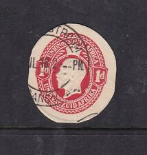 South Africa George V 1 cent postal stationary cut out