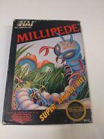 HTF Vintage 1988 NES Nintendo Millipede video game CIB Black NES seal not white