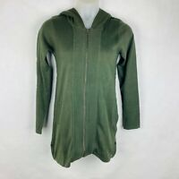 prAna Women's Size Medium Misha Duster Sweater 100% Organic Cotton Cardigan Zip