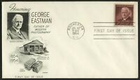 #1062 3c George Eastman, Fleetwood-Addressed FDC **ANY 4=FREE SHIPPING**