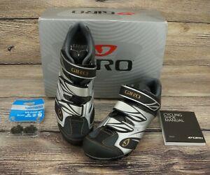🔥NEW! GIRO Reva Cycling Shoe Women Size 10.5 Black/Silver/Gold 🔥