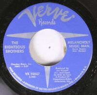 Rock 45 The Righteous Brothers - Melancholy Music Man / Don'T Give Up On Me On V