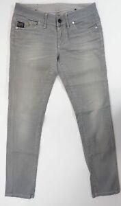 G-Star Jeans Midge Skinny WMN W29 L32 29/32 grau stonewashed gerade Denim X384