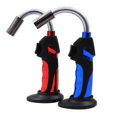 Flexible Pipe Lighter Refillable Butane Gas Jet Torch Windproof Flame Camping