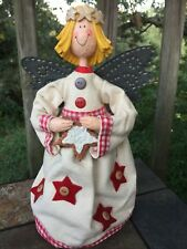 Primitive Gingerbread Star Angel Topper Christmas Tree Gooseberry Patch ��J8
