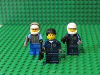 Lot of 3 LEGO Police Cops Swat unit MINIFIGS MiniFIGURES + guns helmets hat SW3