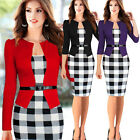 Women Celeb Bodycon Work Office Formal Cocktail Party Evening Tunic Pencil Dress