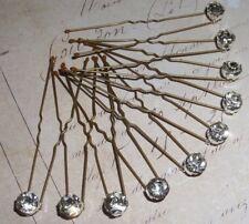 10 x Diamonte Hair Pins,Grips,Clips,Bridal,Bridesmaid,Prom,Diamante,Sparkle