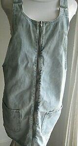 Sexy Denim Co Denim Pinafore/Dungaree Dress zip up front  Size 10   Never worn