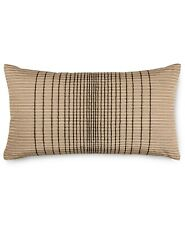 """Hotel Collection 12"""" x 20"""" Decorative Pillow Onyx Embroidered L96199"""