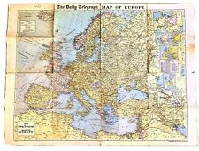 Vintage Large Map of Europe - The Daily Telegraph - Geographia