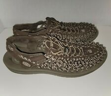 Keen Uneek Mens Sandals Brown Cord Size 14
