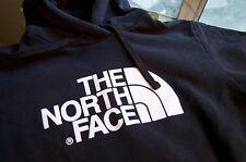 Vintage Men's The North Face OG Black Cotton Heavyweight Hoodie SZ L EX Cond