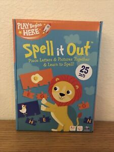 Spell it Out Match & Learn Puzzle Game Play Begins Here Ages 3 and Up New