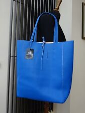 02e3da4da50bc Celine J Blue Leather Tote Bag Handbag New With Tag