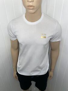 "Mens Hugo Boss Tshirt Short Set Medium 38""Chest 32""waist £79.99 White/navy/gold"