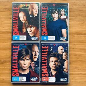 Smallville Mixed Lot Seasons 3 4 5 6 DVD Superhero Superman Region 4 PAL