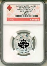 2017 Canada S$3 Canada's 150th Ann. Heart Of Our Nation First Release NGC SP70