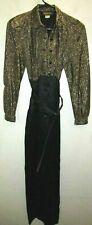 Vintage 1980s Taurus Nites Petites Women Black gold jumper size 6 Free Shipping
