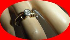 Vintage 14KT Diamond Engagement Ring  White & Yellow Gold