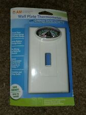Switch Plate Energy Saver Wireless Battery-Less Swivel Thermometer