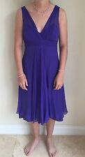 LK Bennett purple silk cocktail dress size 10