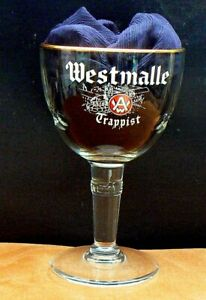 Ltd Ed Westmalle Abbey Print 1994? 33cl Belgian Trappist Beer Glass
