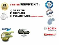 FOR DODGE CALIBER 1.8 2.0 4/2006> NEW FILTER KIT OIL AIR POLLEN ( 3) FILTER KIT