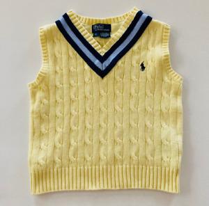Polo Ralph Lauren Boys 5 Easter Sweater Vest Yellow Blue
