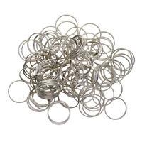 100pcs 20mm couleur solide fer anneau fendu anneau porte-clé crochet