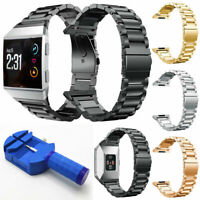 For Fitbit Ionic Large Stainless Steel Folding Clasp Watch Wrist Band Strap