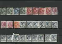 Wertvolles Lot Briefmarken Australien ab 1950 gestempelt 27 Werte