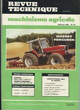 (3B)REVUE TECHNIQUE MACHINISME AGRICOLE TRACTEUR MASSEY FERGUSON / PERKINS / MWM