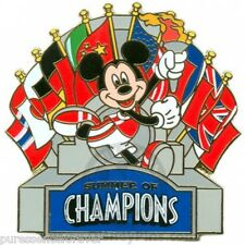 WDW/DLR Summer of Champions: Mickey with Flags Pin NOC