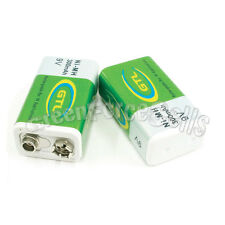 16 x 9V 9 Volt 300mAh GTL Green Ni-Mh Rechargeable Battery block 17R8H PP3