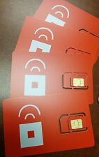 Prepaid Red Pocket Mobile MICRO SIM Card . Works with ATT Phones