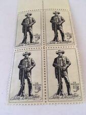 US Postage 5 centSam Houston block of 4