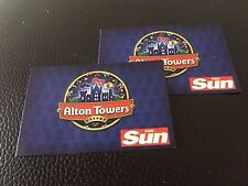 2 X ALTON TOWERS TICKETS FRIDAY 7th SEPTEMBER 2018