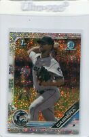 2019 BOWMAN CHROME SPECKLE REFRACTORS /299 RC 1ST EDWARD CABRERA MARLINS - 4038