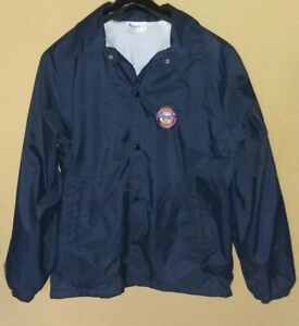 Vintage Auburn Men's L Jacket Made in USA Association of Fire Chiefs Patch