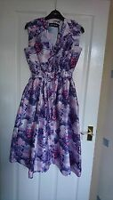 House of Holland pink purple rose heart dress size 8 BNWT Prom dress