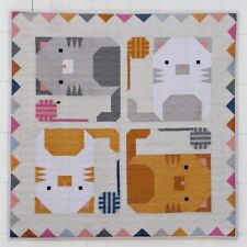 Kitten Around Quilt - fun cat themed pieced quilt PATTERN - Pen & Paper Patterns