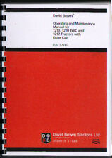 David Brown 1210, 1210 4WD & 1212 Tractor with Quiet Cab Operator Manual Book