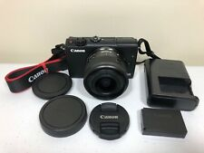 Canon EOS M100 24.2 MP Digital Camera - Black - With 15-45mm IS STM Lens