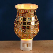 Glass Mosaic Night Light by Gift Connection - Brown / Tan - #GC-NL-PN231