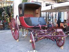 Antique Horse Drawn Buggy Carriage Road Wagon cart sege - rare - Xviii century