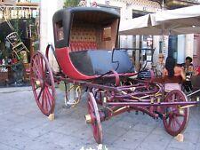 Antique Horse Drawn Buggy Carriage Road Wagon cart sege - rare - XVIII century