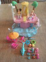 Polly Pocket Pool Party Swimming Lot Pool Play Set Summer Swim Take Along #3