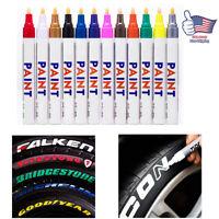 12 X Waterproof Permanent Paint Marker Pen for Car Tyre Tire Tread Rubber Metal